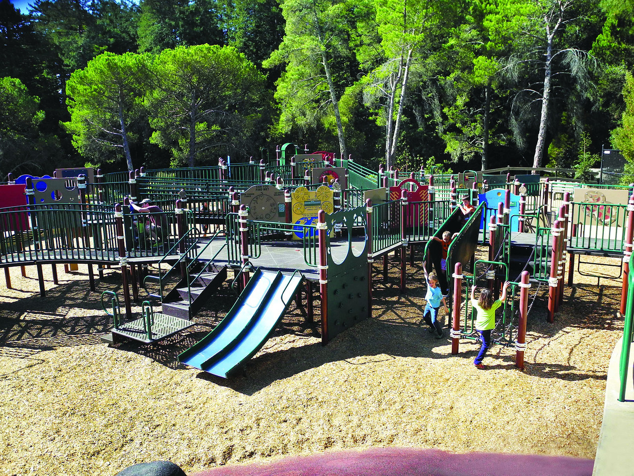 Today: The merry-go-round and pony ride are gone, but a special feature at Roberts is its accessible play structure, designed so that children with all levels of physical ability can play together.