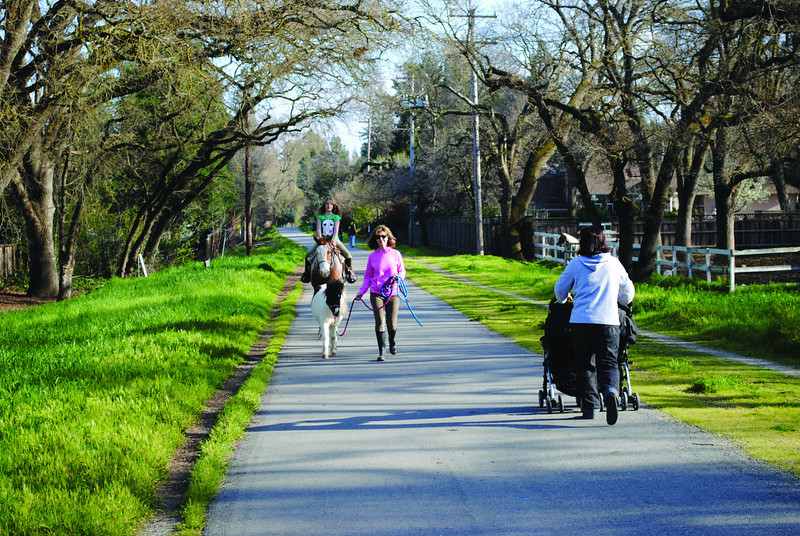 Today: Developed incrementally since 1987, the Iron Horse Regional Trail now extends along the former railbed for 30 miles between Concord and Pleasanton.