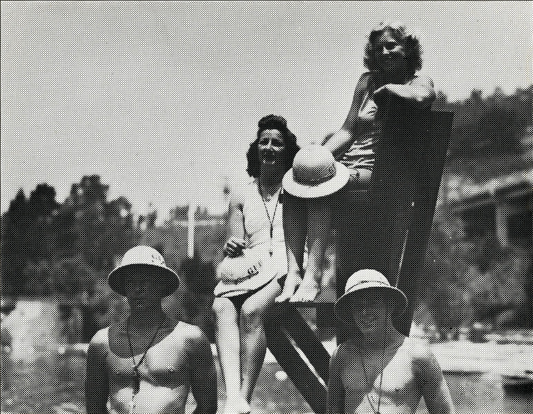 Then: EBRPD has provided lifeguard service at its swim areas for 75 years. Photo: EBMUD
