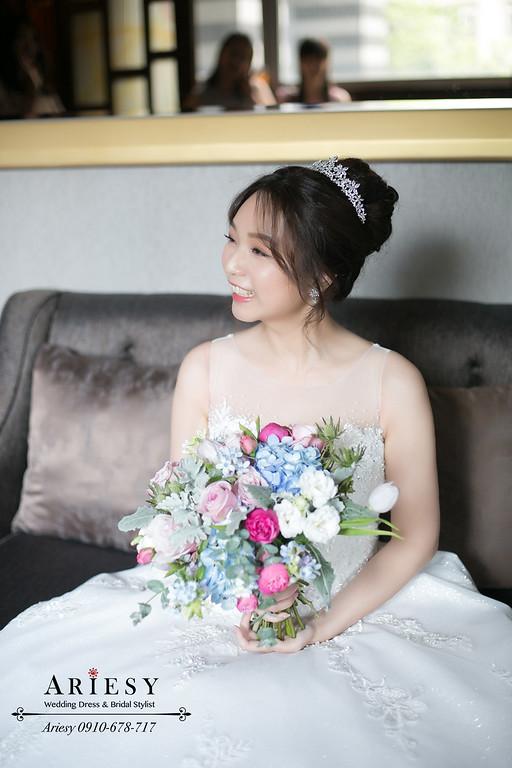 愛瑞思新秘,白紗新娘造型,台北花園婚宴,新娘秘書,新秘推薦,台北新秘ARIESY