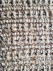 Texture photo of rope carpet and rug with details.