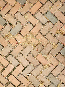 Red Brick path way over head texture wit pattern