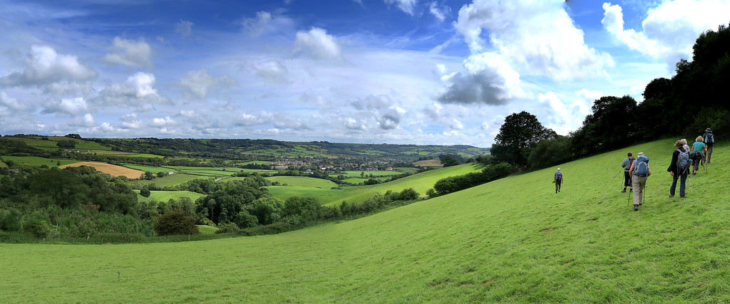 Distant views towards Beaminster  on a lovely day