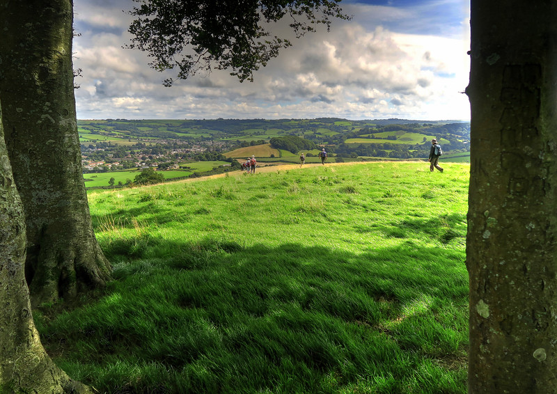 The view over Beaminster from Gerrard's Hill