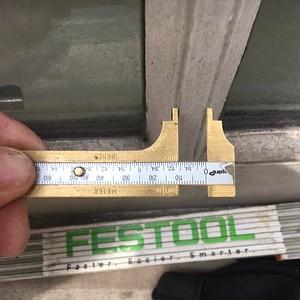 muntin center strip width