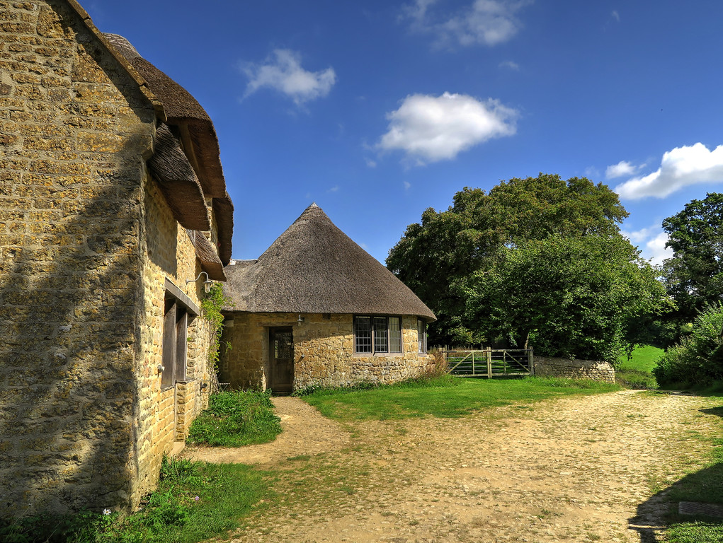 The very attractive buildings at Wytherston Farm