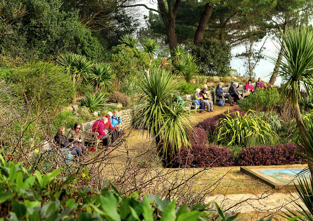 Lunch in the gardens above Branksome Chine
