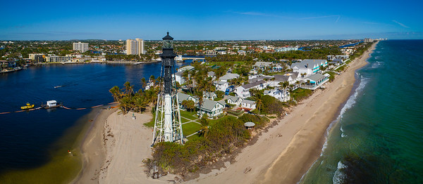 Drone photo Hillsboro Lighthouse Florida