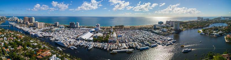 Aerial panorama 2017 Fort Lauderdale boat show