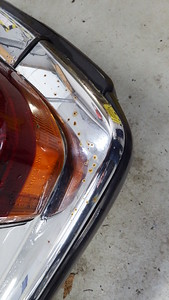 LHR Bumper chrome surface rust and pitted