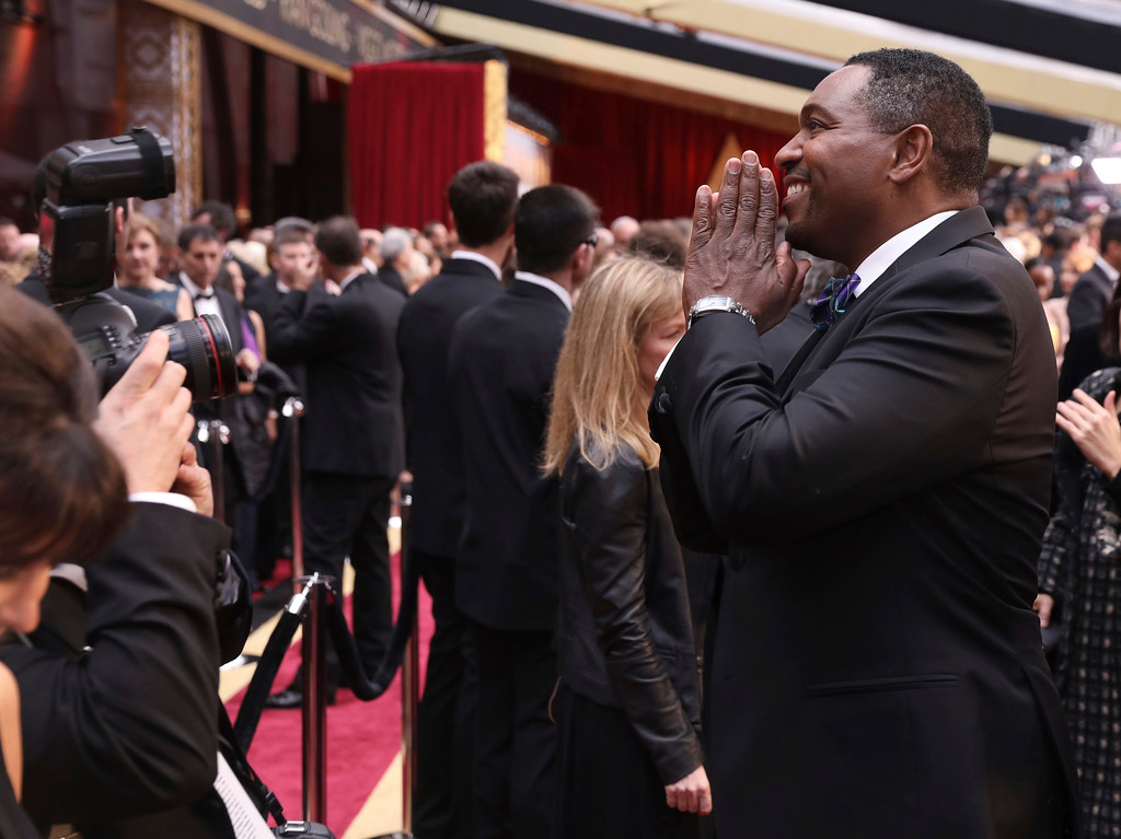. Mykelti Williamson arrives at the Oscars on Sunday, Feb. 26, 2017, at the Dolby Theatre in Los Angeles. (Photo by Matt Sayles/Invision/AP)