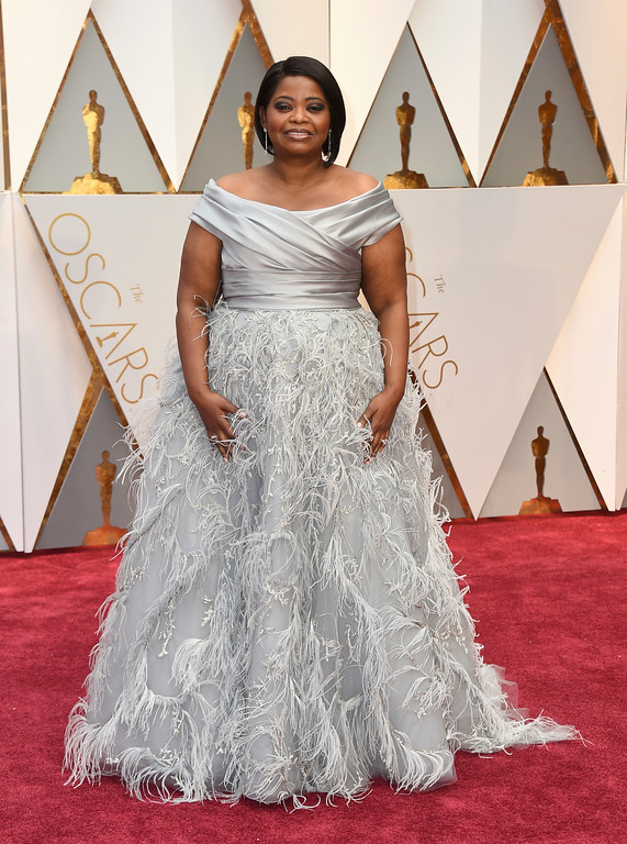 . Octavia Spencer arrives at the Oscars on Sunday, Feb. 26, 2017, at the Dolby Theatre in Los Angeles. (Photo by Jordan Strauss/Invision/AP)