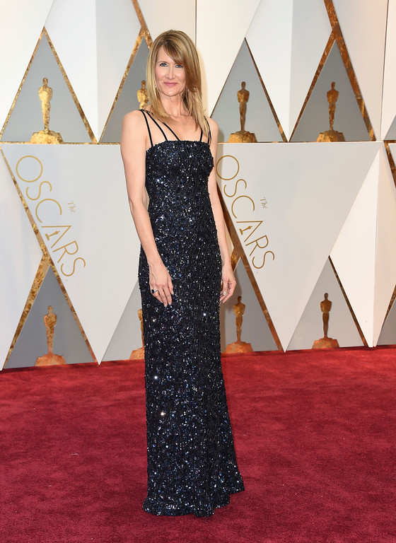 . Laura Dern arrives at the Oscars on Sunday, Feb. 26, 2017, at the Dolby Theatre in Los Angeles. (Photo by Jordan Strauss/Invision/AP)