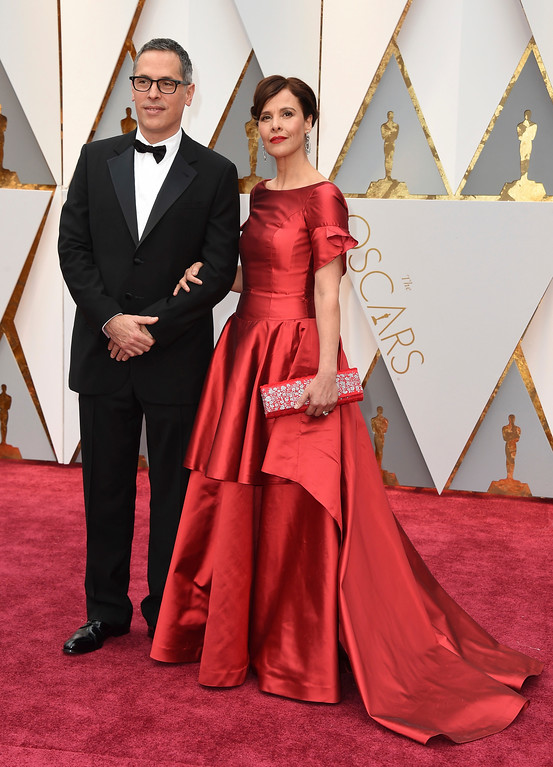 . Rodrigo Prieto, left and Monica Prieto arrive at the Oscars on Sunday, Feb. 26, 2017, at the Dolby Theatre in Los Angeles. (Photo by Jordan Strauss/Invision/AP)