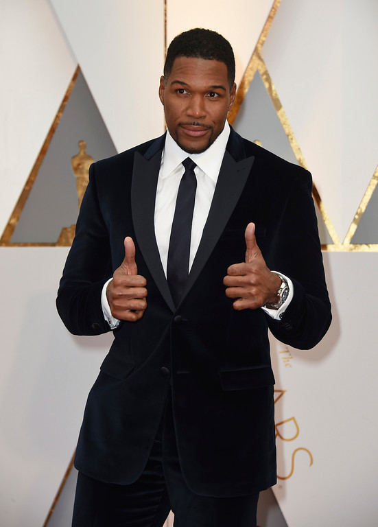 . Michael Strahan arrives at the Oscars on Sunday, Feb. 26, 2017, at the Dolby Theatre in Los Angeles. (Photo by Jordan Strauss/Invision/AP)