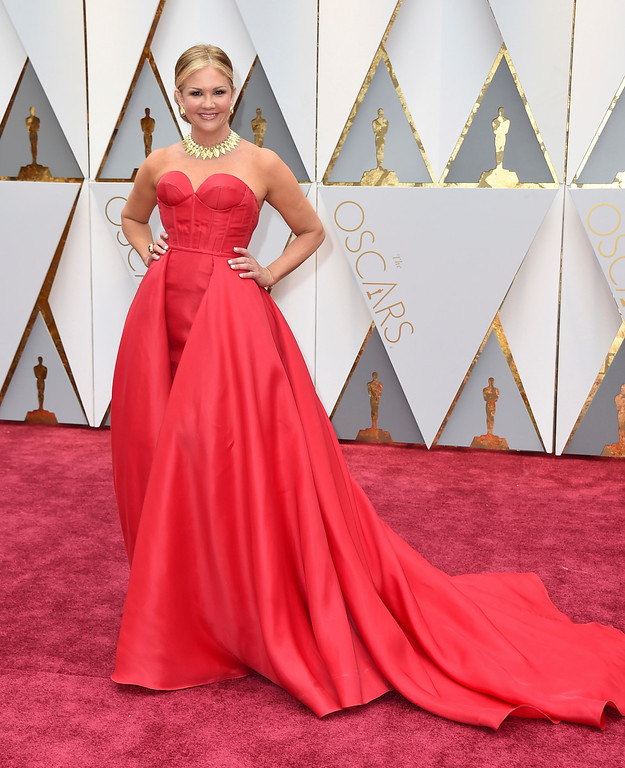 . Nancy O\'Dell arrives at the Oscars on Sunday, Feb. 26, 2017, at the Dolby Theatre in Los Angeles. (Photo by Jordan Strauss/Invision/AP)