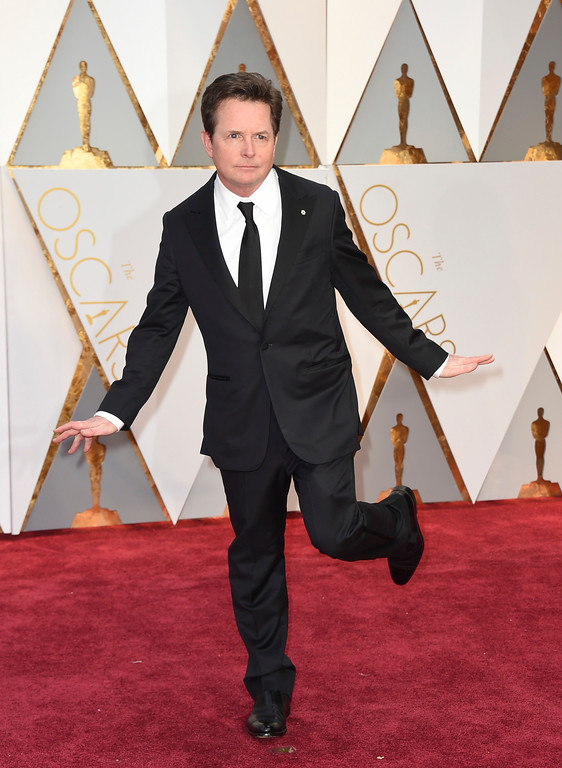 . Michael J. Fox arrives at the Oscars on Sunday, Feb. 26, 2017, at the Dolby Theatre in Los Angeles. (Photo by Jordan Strauss/Invision/AP)