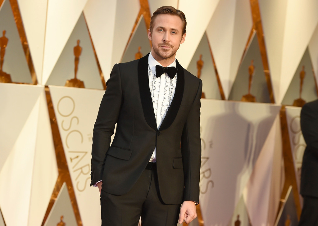 . Ryan Gosling arrives at the Oscars on Sunday, Feb. 26, 2017, at the Dolby Theatre in Los Angeles. (Photo by Jordan Strauss/Invision/AP)