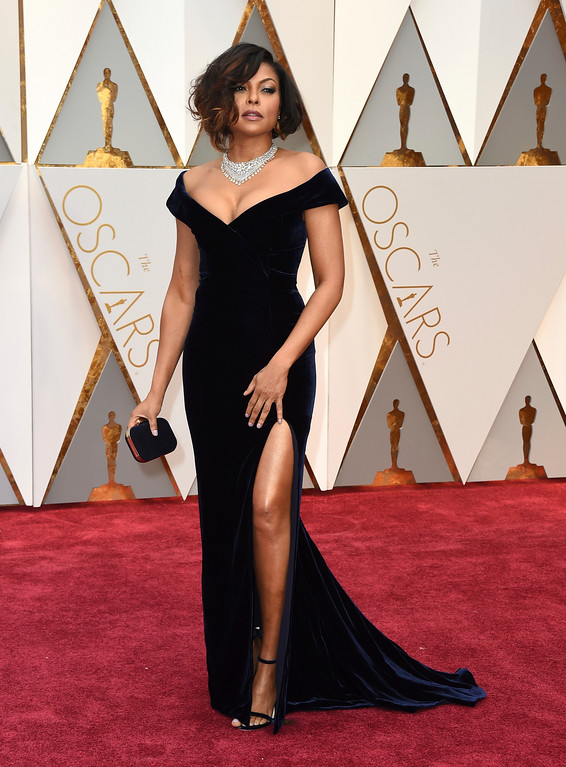 . Taraji P. Henson arrives at the Oscars on Sunday, Feb. 26, 2017, at the Dolby Theatre in Los Angeles. (Photo by Jordan Strauss/Invision/AP)