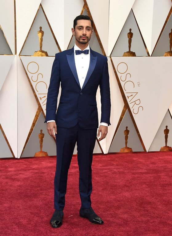. Riz Ahmed arrives at the Oscars on Sunday, Feb. 26, 2017, at the Dolby Theatre in Los Angeles. (Photo by Jordan Strauss/Invision/AP)