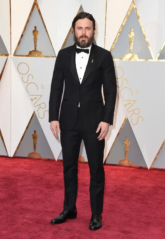 . Casey Affleck arrives at the Oscars on Sunday, Feb. 26, 2017, at the Dolby Theatre in Los Angeles. (Photo by Jordan Strauss/Invision/AP)