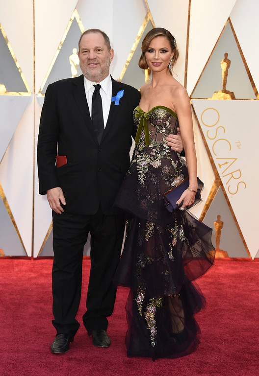 . Harvey Weinstein, left, and Georgina Chapman arrive at the Oscars on Sunday, Feb. 26, 2017, at the Dolby Theatre in Los Angeles. (Photo by Jordan Strauss/Invision/AP)