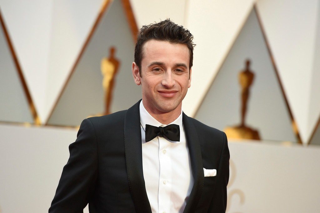 . Justin Hurwitz arrives at the Oscars on Sunday, Feb. 26, 2017, at the Dolby Theatre in Los Angeles. (Photo by Jordan Strauss/Invision/AP)