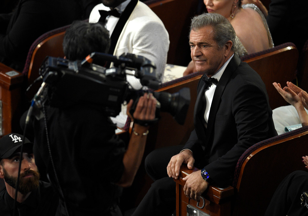 . Mel Gibson appears in the audience at the Oscars on Sunday, Feb. 26, 2017, at the Dolby Theatre in Los Angeles. (Photo by Chris Pizzello/Invision/AP)
