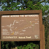 Map of the trails across the Bitterroot Mountains.