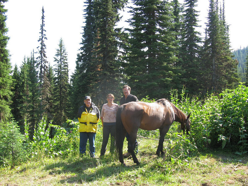 A family of five have been traveling the Lewis and Clark Trail for over a month on horseback. All horses were Appaloosa.