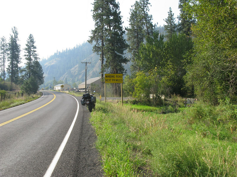 Hwy 12 at the bottom of the Lolo Trail.