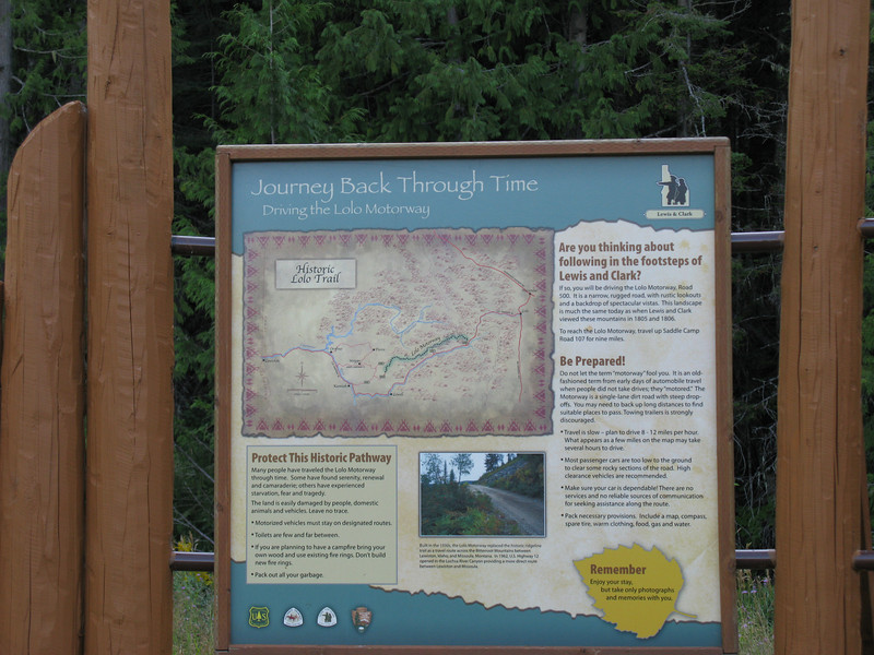 Map and history of the Lolo Motoring Highway.