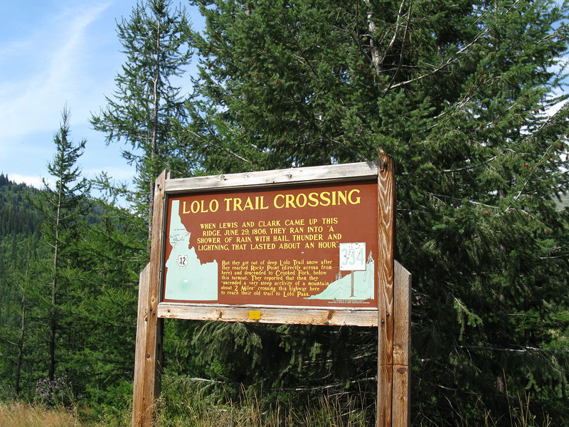 Lolo Trail crossing sign.