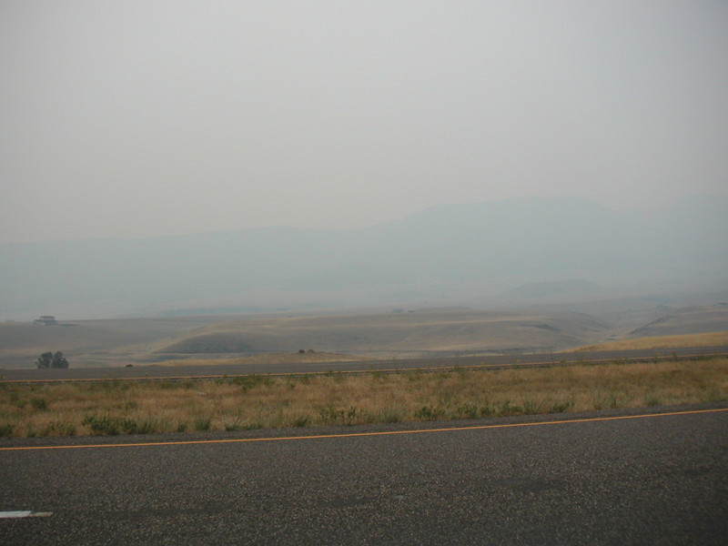 Forest fires are common in the east side of the Bitterroots.
