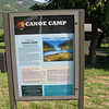 Canoe camp.  The actual canoe campsite is about one miles west of where the marker indicates it was located.