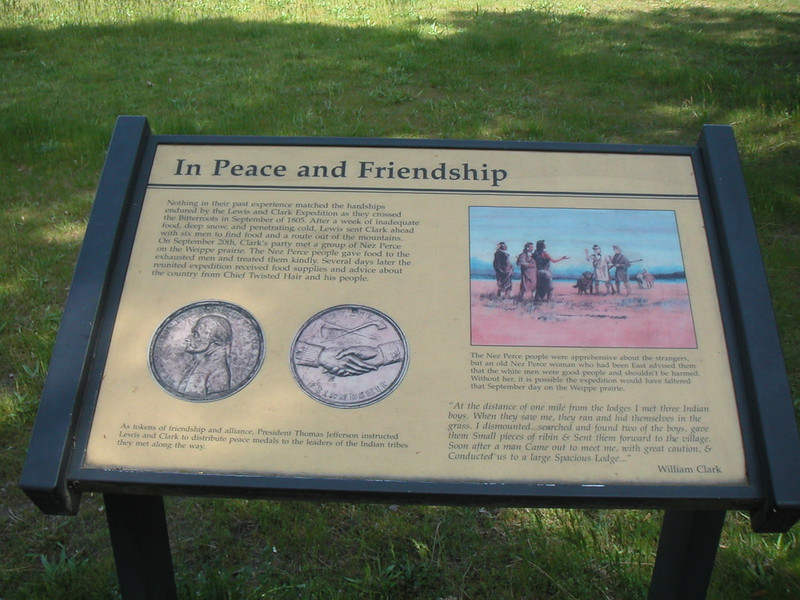 Weippe Prairie meeting of the Expedition and Nez Perce.