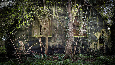 Remains of a Nissen hut