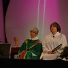 At the opening worship, the Rev. Susan Briehl (left) presided and newly elected Women of the ELCA president Jennifer Michael (right) was assisting minister.