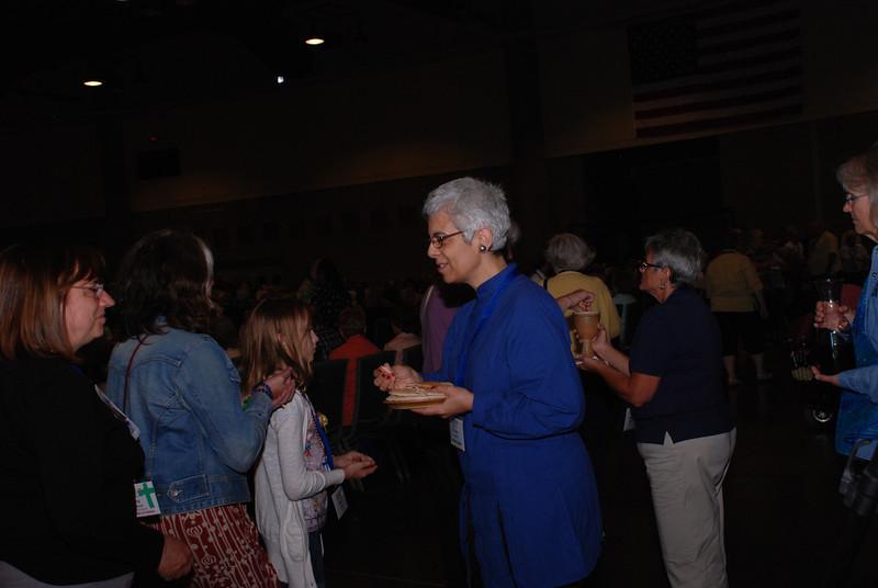 Friday morning communion, served by Jane Redmont, the evening prayer leader. Jane also led workshops on prayer.