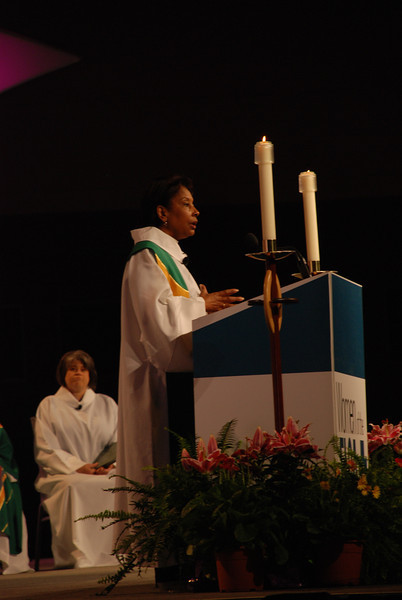The Rev. Dr. Wyvetta Bullock preaches at the opening worship.