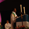 The Rev. Dr. Wyvetta Bullock preaches a powerful message at the opening worship on Friday morning.