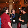 Closing worship preacher the Rev. Megan Torgerson (center) chats with participants.