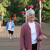 Ione Hanson heads to the finish line at the 5K Run, Walk and Roll. (BMcB)