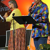 Musician Deb and vocalist  Arsenia at the closing worship led the assembled in beautiful and inspiring hymns. (BMcB)