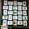 "Linda Dunlap of Bonney Lake, Washington, was No. 1 with ""Our Rs"" in the viewer's choice at the gathering. Jan Schmidt from Coon rapids, Minnesota, was No. 2 with ""Hands and Hearts Create Love""' and Irene Hansen from Victoria, Texas, was No. 3 with ""Gabriel Angel."" The quilts interpreted the gathering theme--Renew, Respond, Rejoice!<br /> LPB"