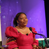 Saturday morning keynote speaker Leymah Gbowee encouraged women to reclaim their space, a call to action for women of faith. (BMcB)