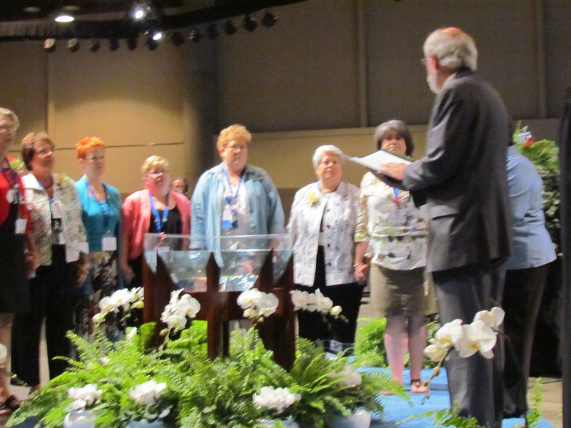 Presiding Bishop Mark Hanson installs the 2011-2014 executive board and officers.