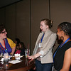 Chocolate Lounge participants enjoy good conversation.