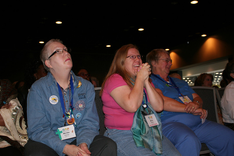 Participants react to Leymah's keynote. (BMcB)