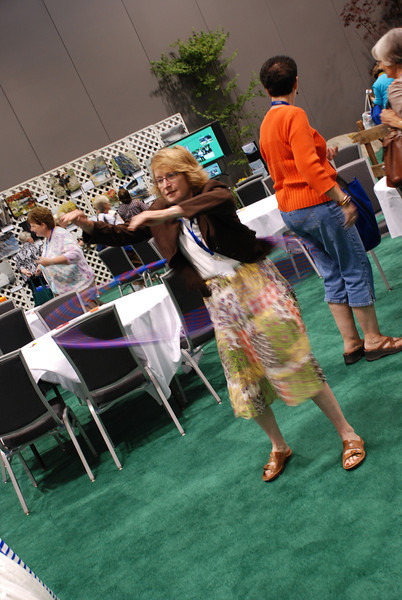 Some participants had an opportunity to refresh their hula hoop skills. EH
